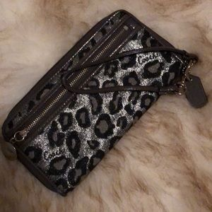 Coach cheetah print wallet